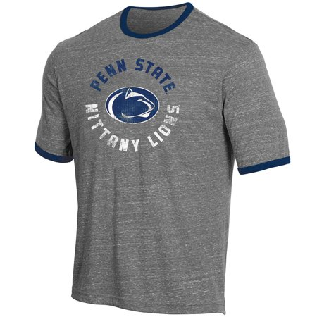 Men's Russell Heathered Gray Penn State Nittany Lions Athletic Fit Crew Neck Tri-Blend T-Shirt