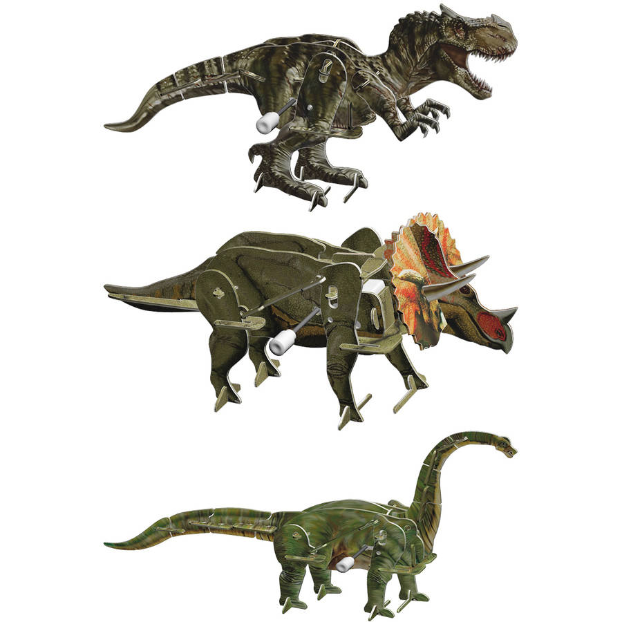 Smithsonian 3D Motorized Puzzles, Dinosaur 3 Pack