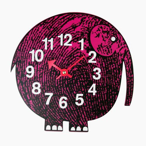 George Nelson Elephant Zoo Timer Wall Clock - 11 in. Wide