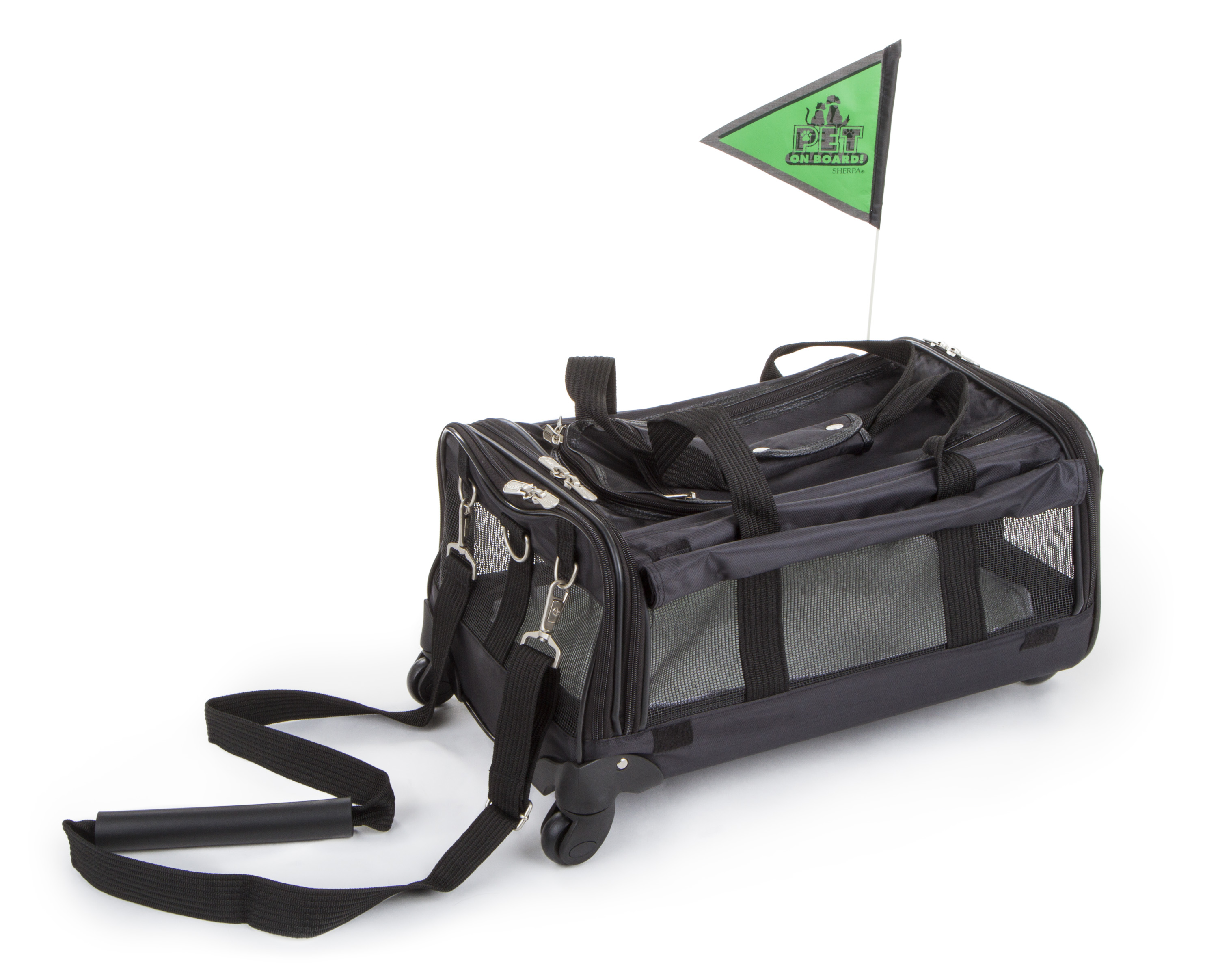 bb91c67bc Sherpa® Travel Ultimate On Wheels™ Airline Approved Pet Carrier, Large,  Black - Walmart.com