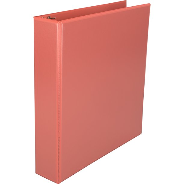 "Pen + Gear Basic D-Ring View Binder, 1 1/2"", Coral (WM384-34C)"