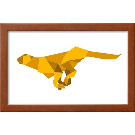 Origami Made Puma Framed Print Wall Art By Denny Stoekenbroek ...