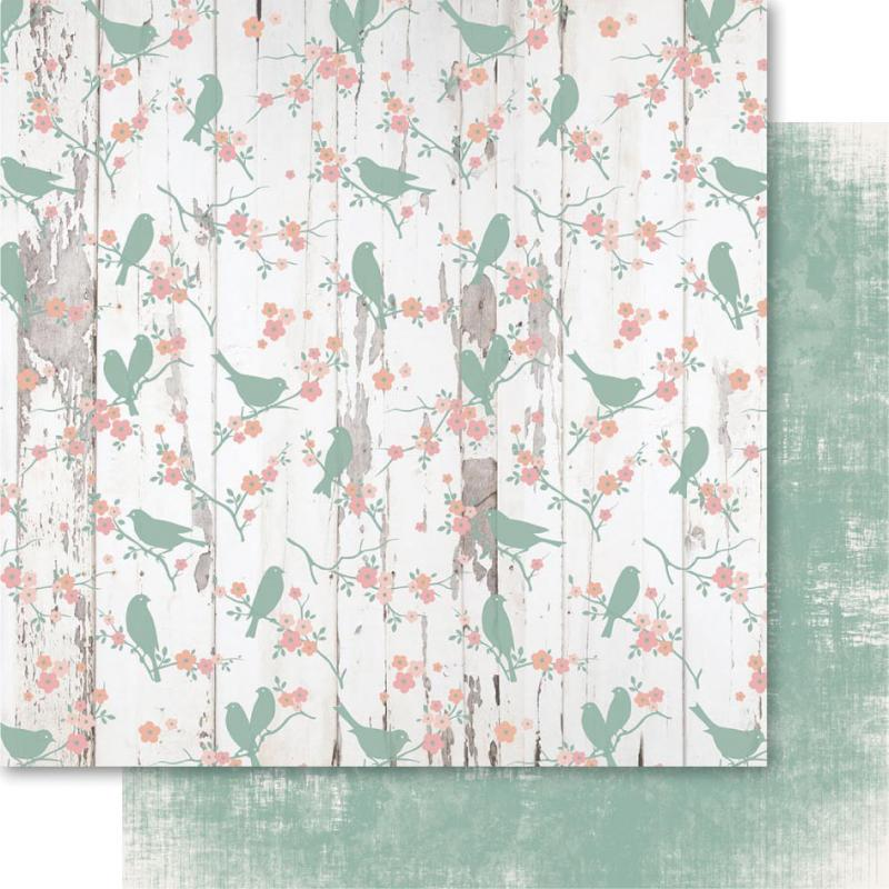 "Bella! Rustic Charm Double-sided Cardstock 12""x12""-lovebird - Case Pack Of 10"