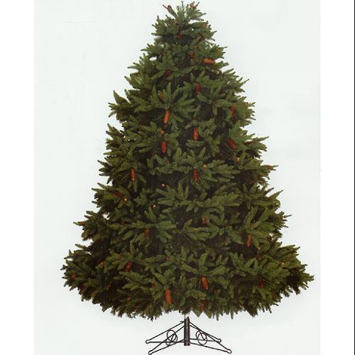 8' Full Fresh Cut Durango Spruce Pre-Lit Artificial Christmas Tree -Clear Lights