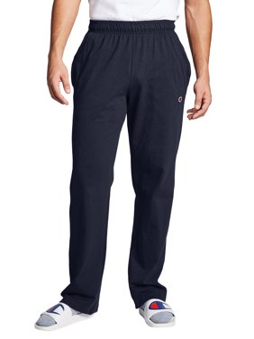 Champion Mens Open Bottom Jersey Sweatpants, up to Size 4XL