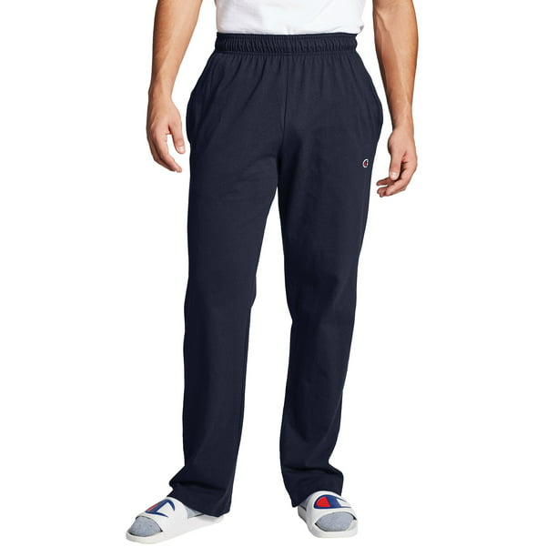 Champion Men's Open Bottom Jersey Sweatpants, up to Size 4XL