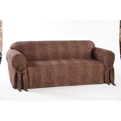 Classic Slipcovers Leopard Print Box Cushion Loveseat Slipcover
