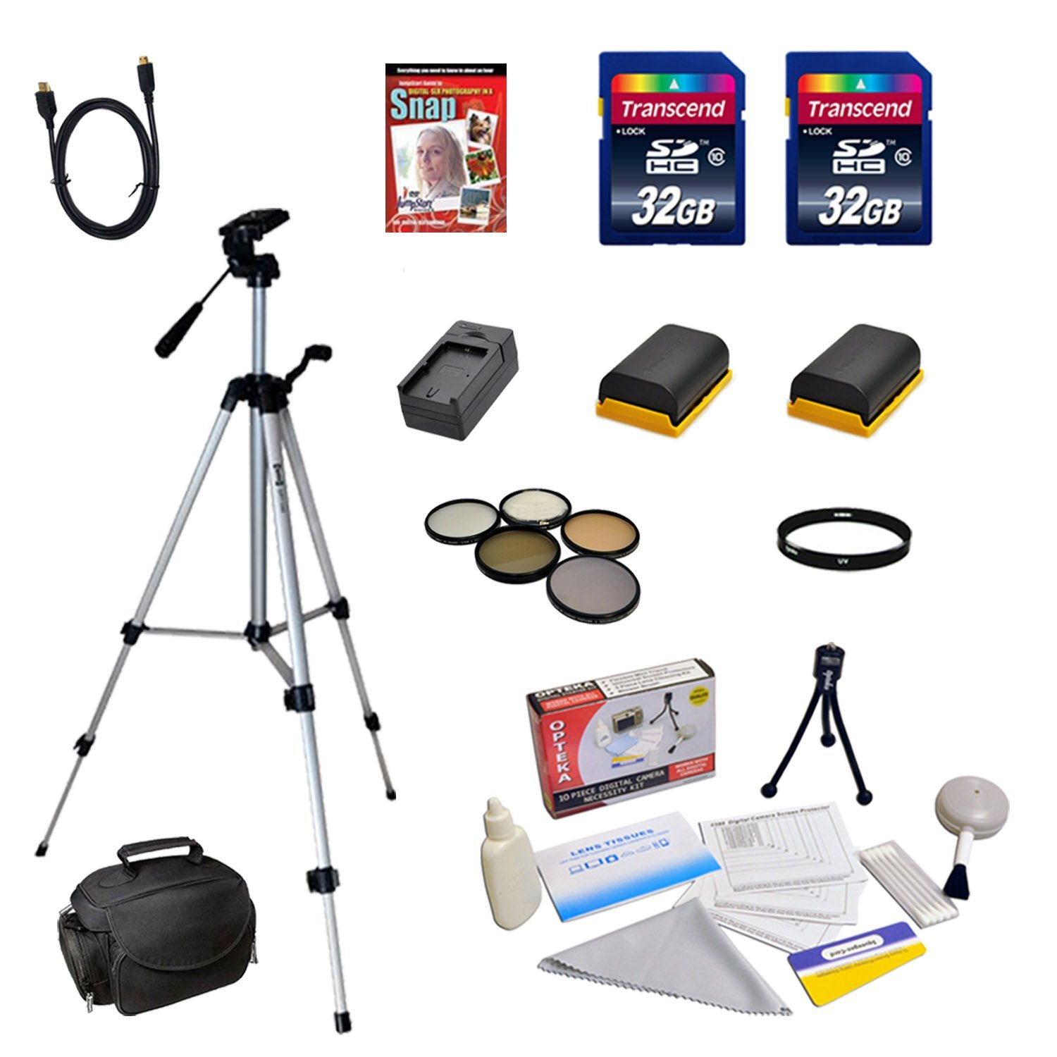 Accessory Bundle Kit For The Canon EOS 60D, EOS 70D, EOS 5D Mark II, 5D Mark III 7D DSLR Cameras - Black Friday / Cyber Monday Deal.