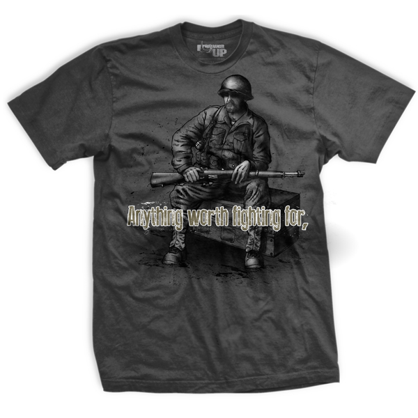 Ranger Up Fight Dirty T-Shirt - Gray