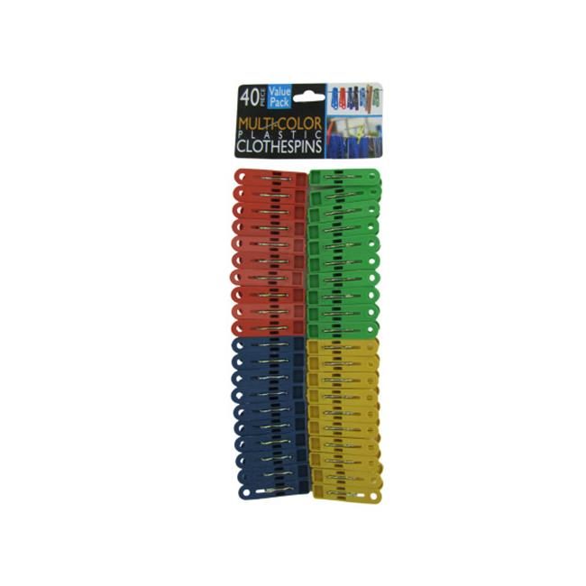 Multi-colored plastic clothespins - Case of 72