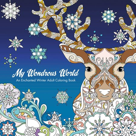 Winter Coloring Sheet (My Wondrous World: Enchanted Winter Adult Coloring)