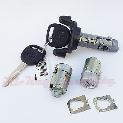 - Ignition Switch Cylinder and 2 Door Lock Cylinder Set For Chevy 01 Trucks SUV