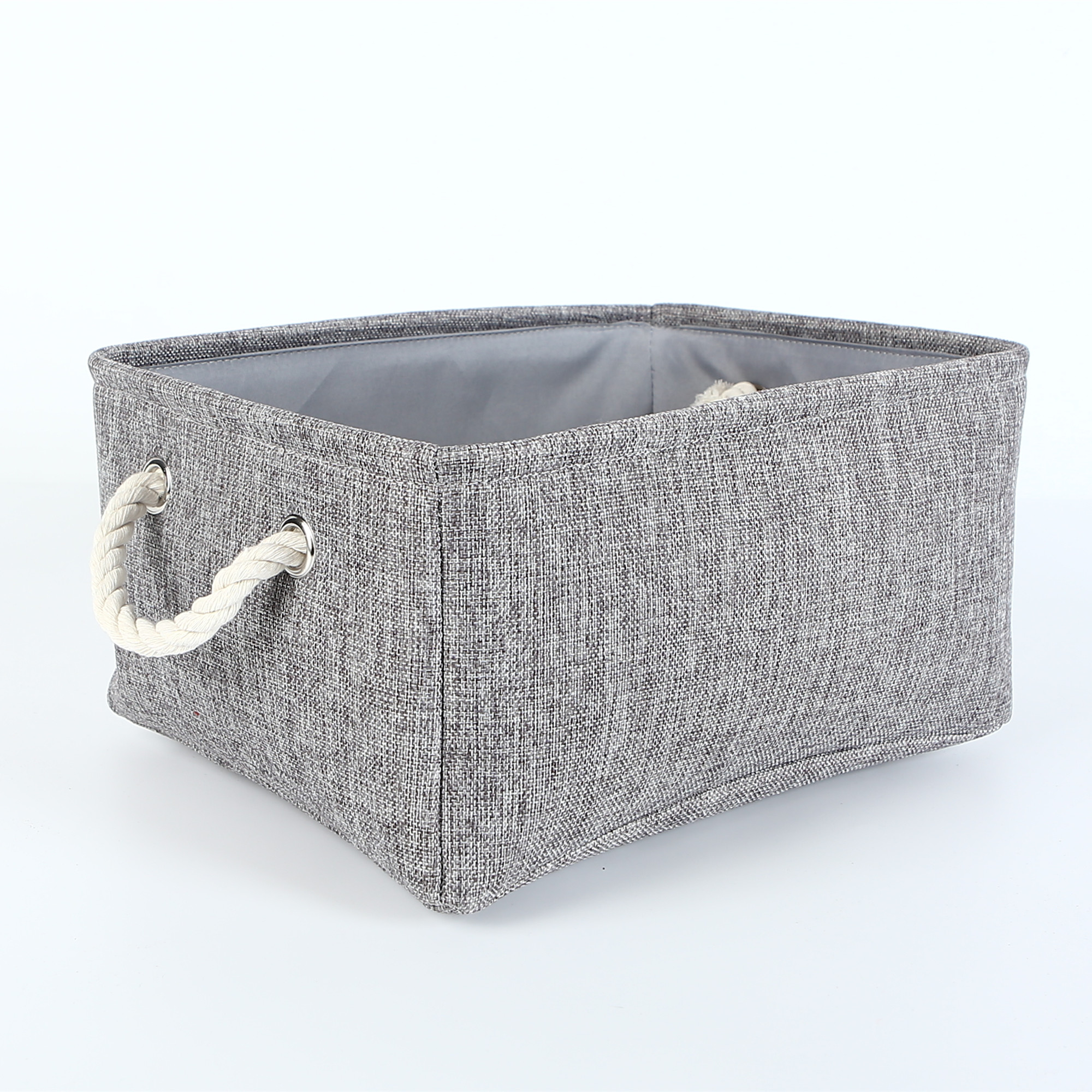 collapsible rectangular fabric storage bin organizer basket with handles for clothes storagetoy organizer