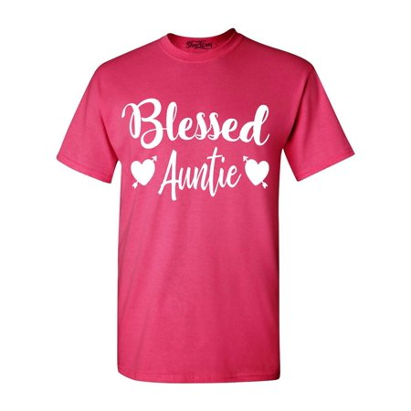 Shop4Ever Men's Blessed Auntie Graphic T-shirt