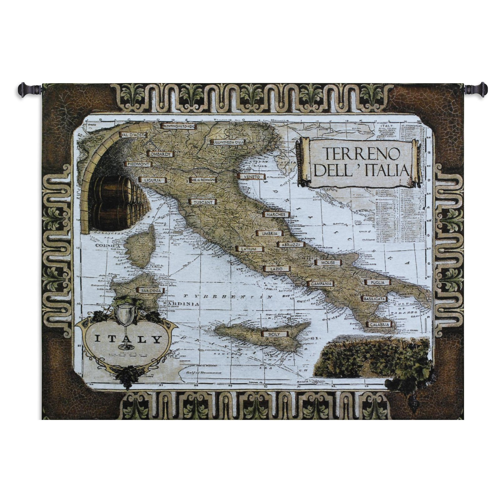 Italian Wine Country Wall Tapestry