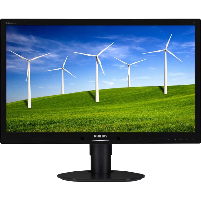 "AOC Philips Brilliance 241b4lpycb 24"" Led Lcd Monitor - 1..."
