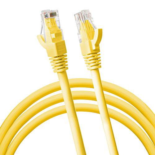 RJ45 CAT5 CAT5E ETHERNET LAN Network Cable w 100 Feet Yellow