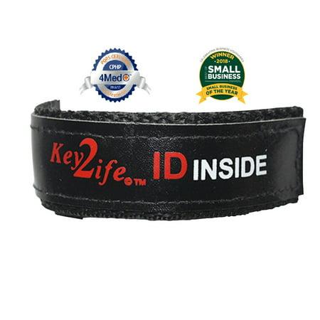 Waterproof EMR Velcro Sport Bracelet by Key2Life Color Black Sapphire Water Resistant Bracelet
