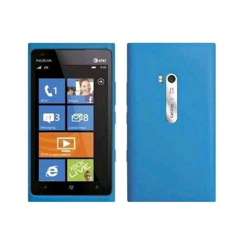 OEM Nokia Slim Bumper Silicone Case for Nokia Lumia 900 4G - Blue
