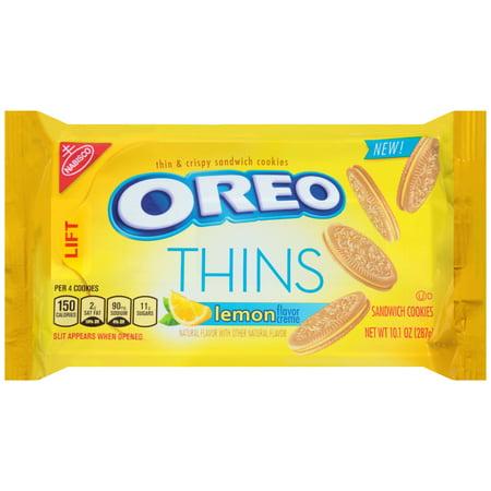 (2 Pack) Nabisco Oreo Thins Lemon Creme Sandwich Cookies, 10.1 oz (Cookie Ice Cream Sandwich)