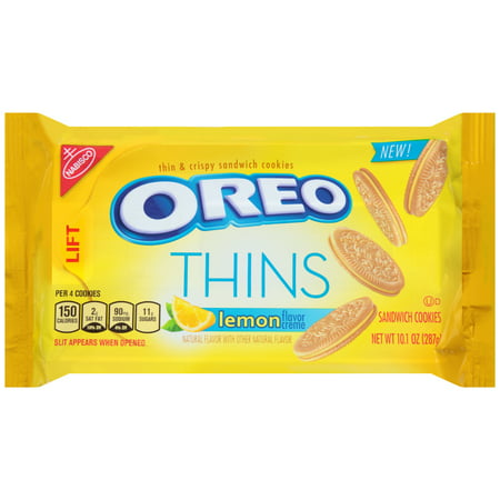 (2 Pack) Nabisco Oreo Thins Lemon Creme Sandwich Cookies, 10.1 oz (Oreo Cookie Recipes Halloween)