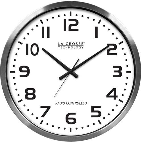 """La Crosse Technology 20"""" Extra Large Atomic Analog Clock"""