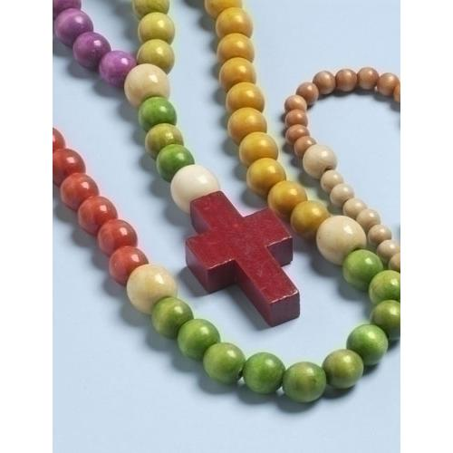 """20.5"""" Multi-Color Wooden Kiddie """"My First Rosary"""""""
