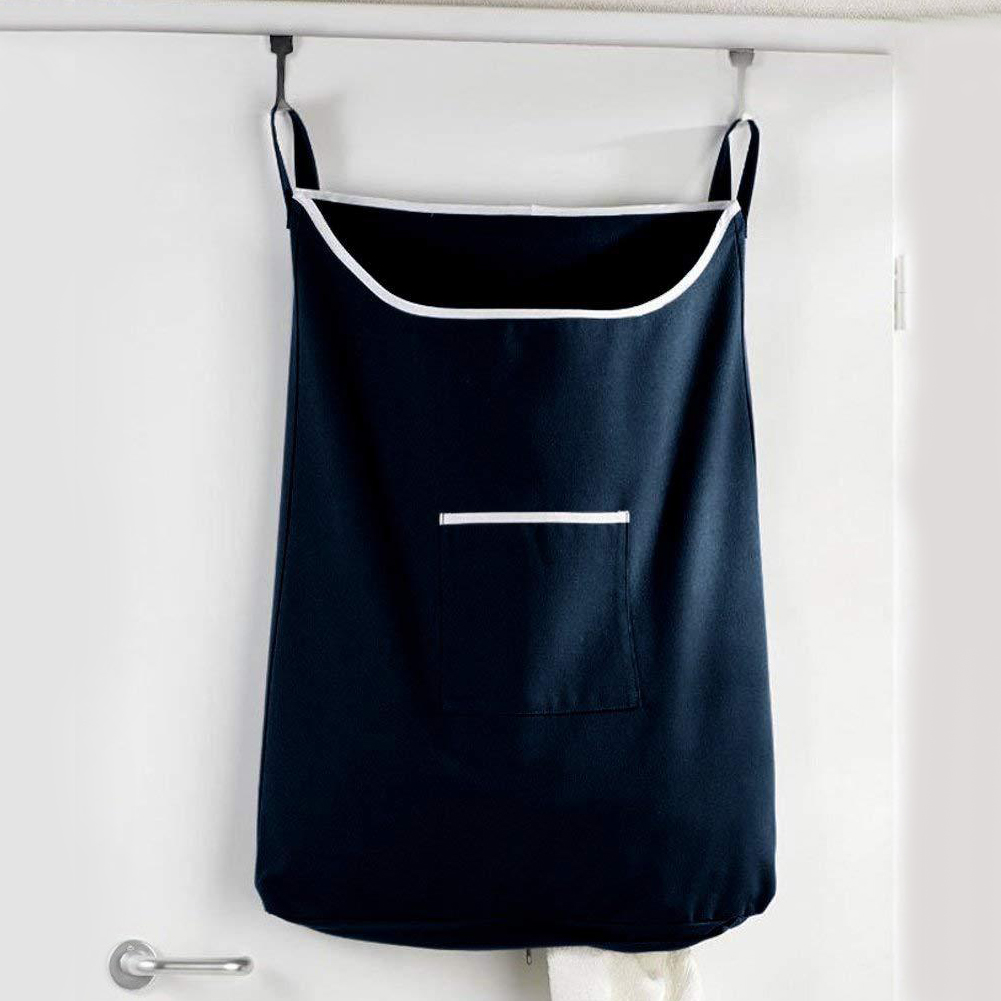 Voomwa Storage Bag Square Mouth Storage Bag Large Capacity Dirty Clothes Bag Laundry Bag Hanging Behind The Door