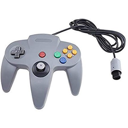 Classic Wired Controller Joystick for Nintendo 64 N64 Game System - Gray ( Refurbished) ()