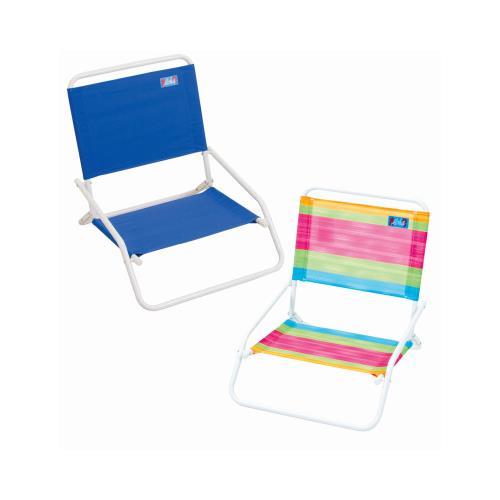 Rio Brands SC580-TS Beach Chair, Steel Frame, Assorted Print & Stripe