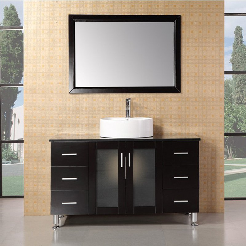 Design Element DEC066C-E Malibu 48-in. Single Bathroom Vanity Set