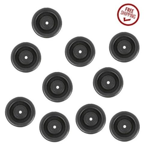 "DuraTek 3"" x 1-1/4"" Polyolefin Wheel w/ 3/8"" ID 3/8"" ID Plain Bore (Pack of 10)"