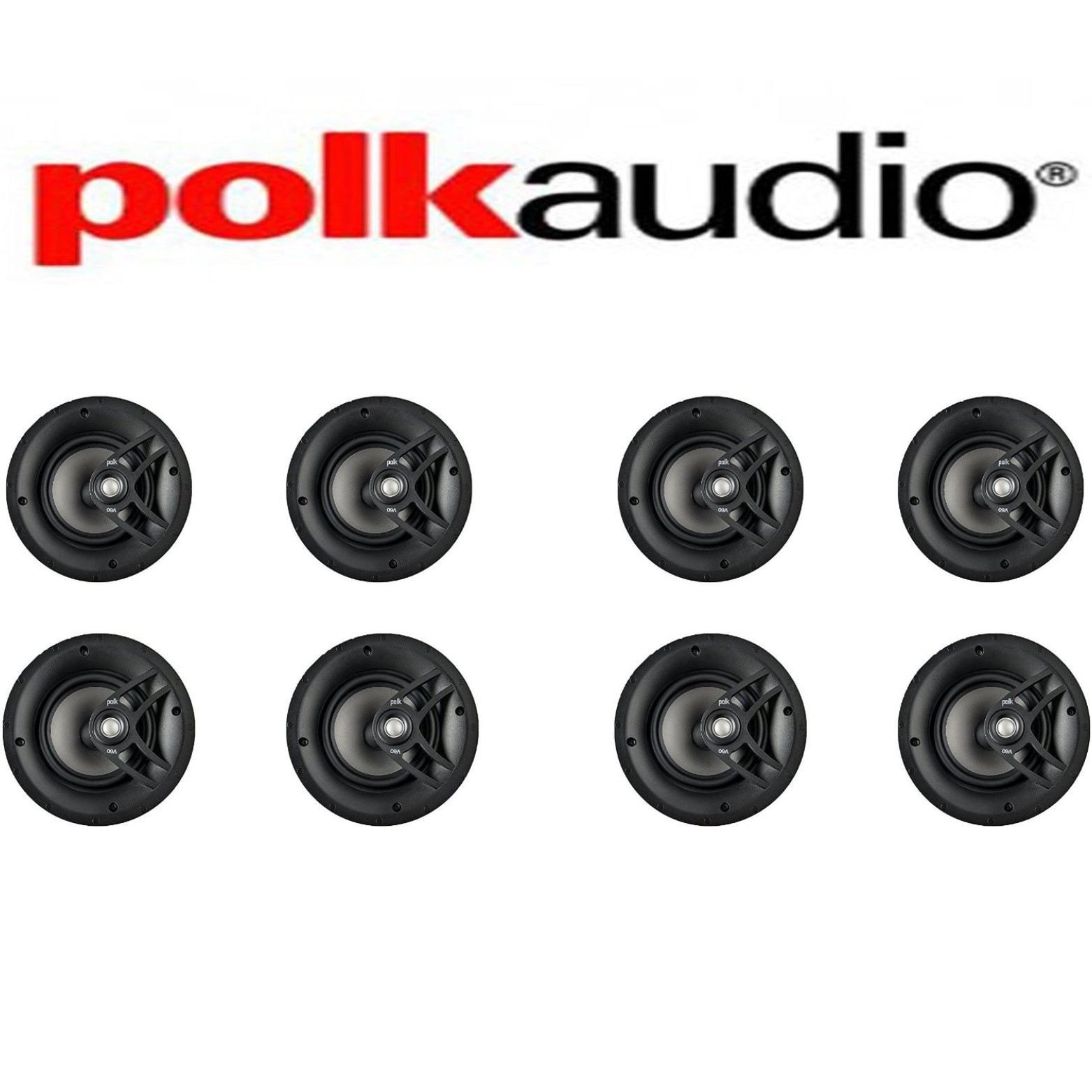 Polk Audio V60 High Performance Vanishing In-Ceiling Speakers (8 Pack) by Polk Audio