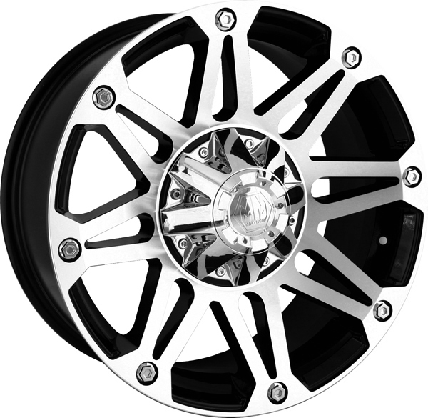 18x9//6x135mm Mayhem 8040-8937B18 Tank Wheel with Black Finish and Milled Spoke