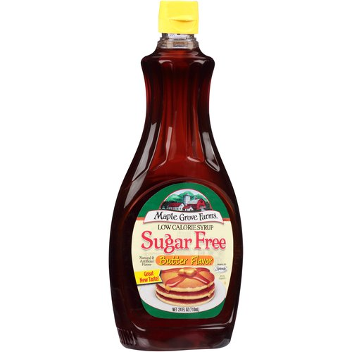 Maple Grove Farms Low Calorie Sugar Free Butter Flavor Syrup, 24 fl oz