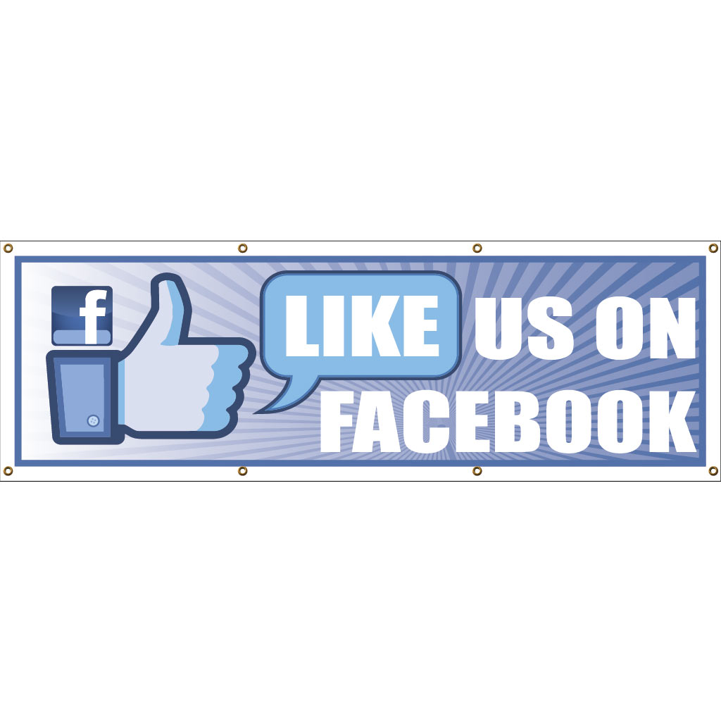Business Banner - Like Us On Facebook - 2' x 4' Vinyl Banner