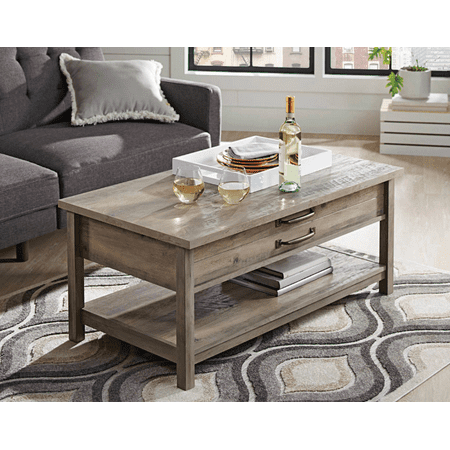 Better Homes & Gardens Modern Farmhouse Lift-Top Coffee Table, Rustic Gray Finish