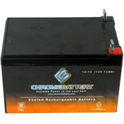 Chrome Battery 12V (12 Volt) (12 Volt) 12Ah Rechargeable Sealed Lead Acid Battery - T3 Nut And Bolt Terminals - for Snapper Lawnmower Battery: Gp-2929-02