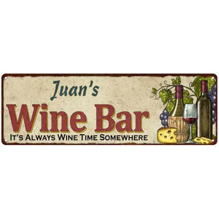 Juans Wine Bar Rustic Look Chic Sign Home D Cor Gift 6X18 Sign M61806210
