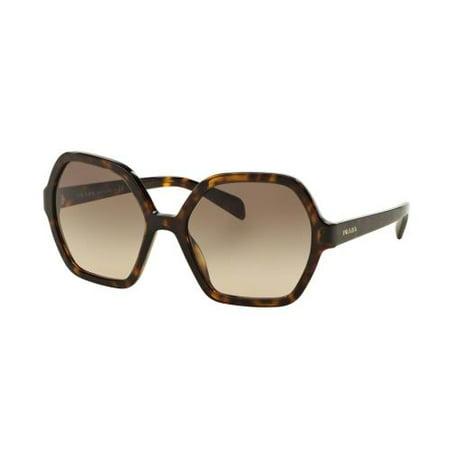 6cdd0b1e9e Prada - PRADA Sunglasses PR 06SSF 2AU3D0 Havana 56MM - Walmart.com