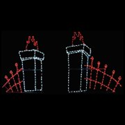Brite Ideas Cemetery Fence LED Display