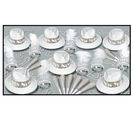 Club Pack of 50 LA Silver and White Swing