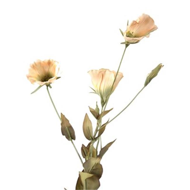 Distinctive Designs DH-440-IV DIY Flower 23 in. L Ivory Artificial Lisianthus x 3 Blooms  1 Bud  10 Leaves - Pack of 12