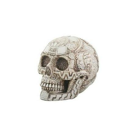 Aztec Skull Head Figurine Display Decoration