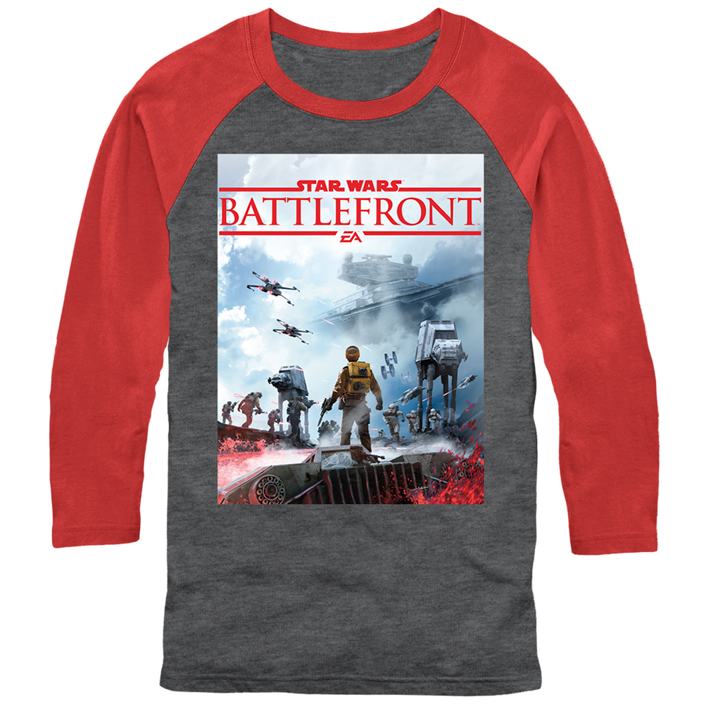 Star Wars Battlefront Star Destroyer Logo Mens Graphic Baseball Tee