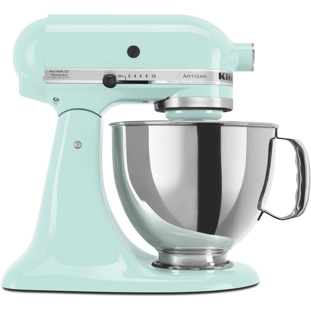 KitchenAid Artisan Series 5 Quart Tilt-Head Stand Mixer, Ice (KSM150PSIC)