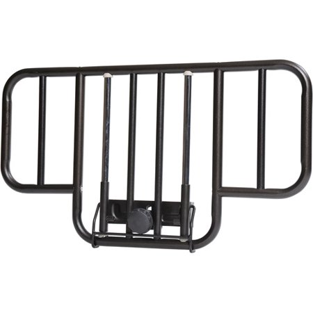 Drive Medical No Gap Half Length Side Bed Rails With Brown Vein Finish