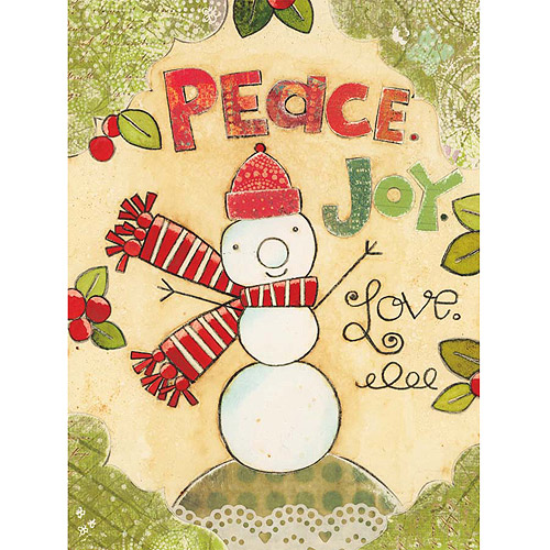 Lang Peace Love Snowman Classic Christmas Cards