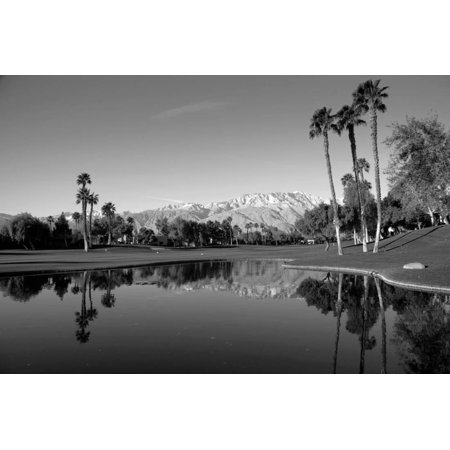 Pond in a golf course, Desert Princess Country Club, Palm Springs, Riverside County, California... Print Wall -