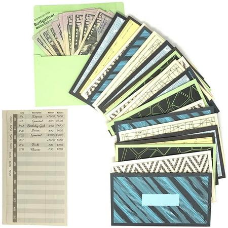 Envelope System Budget - Cash Envelopes Money Budget Planner- 36 Pack Budget Envelopes -6 Assorted Cute Colored Money Envelopes System for Cash Saving – Ideal Cash Envelope System Wallet Organizer for Budgeting